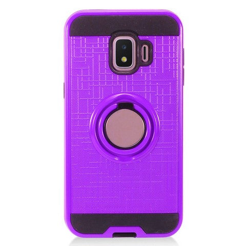 Samsung Galaxy J2 - Ring Magnetic Kickstand Case - Purple