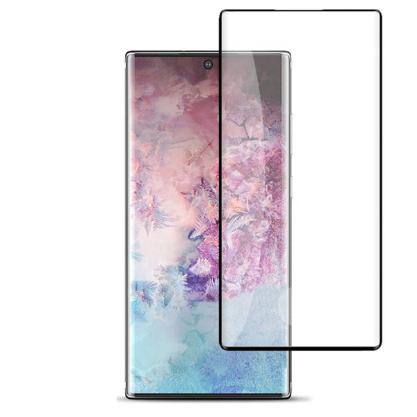 Samsung Galaxy Note 10 - Tempered Glass Screen Protector - Full Curved - Black