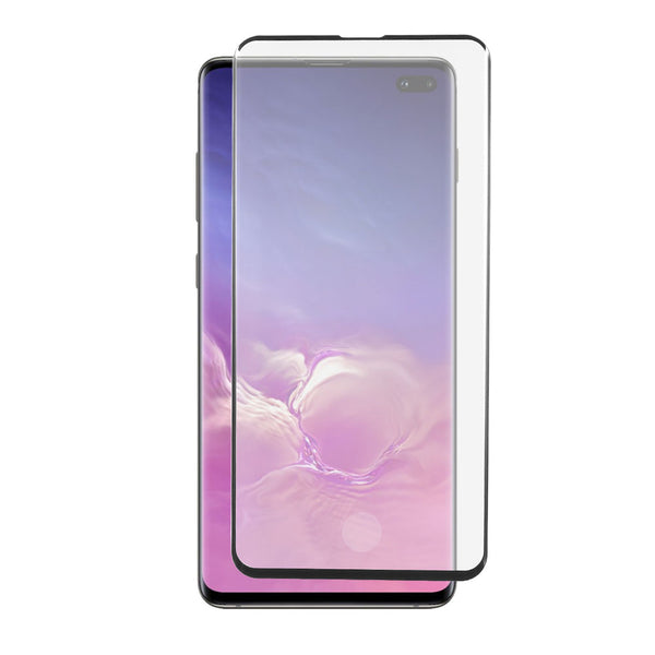 Samsung Galaxy S10 Plus - Tempered Glass Screen Protector - Full Curved - Black