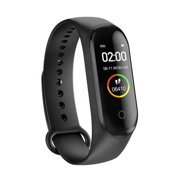 Smart Bracelet M4 - Fitness Tracker Heart Rate Sleep Monitor - Black