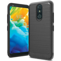 LG Stylo 5 - Premium Brushed Edge Slim Case - Black