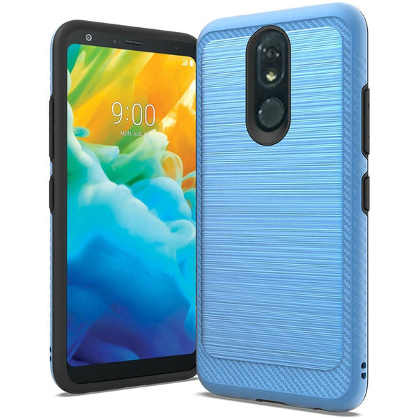 LG Stylo 5 - Premium Brushed Edge Slim Case - Blue