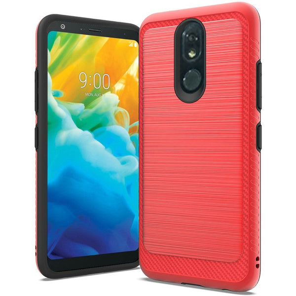 LG Stylo 5 - Premium Brushed Edge Slim Case - Red