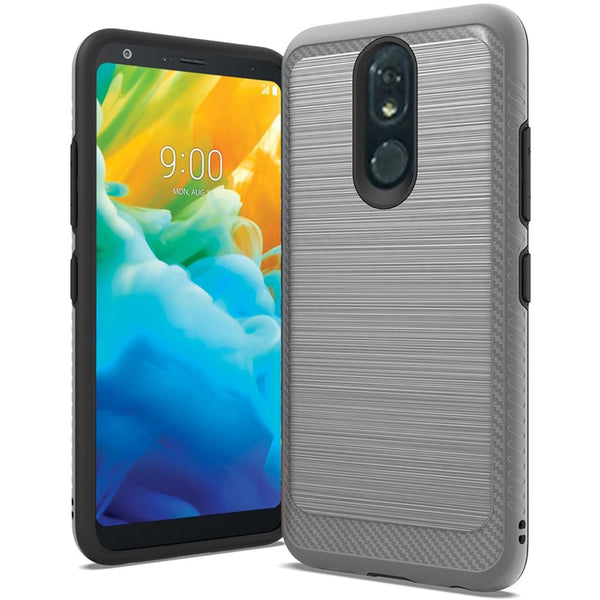 LG Stylo 5 - Premium Brushed Edge Slim Case - Silver