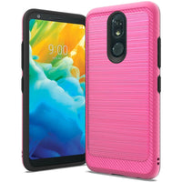 LG Stylo 5 - Premium Brushed Edge Slim Case - Hot Pink