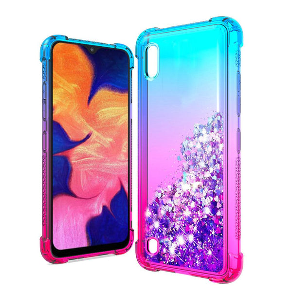 LG Stylo 5 - Premium Liquid Glitter Case - Blue/Hot Pink