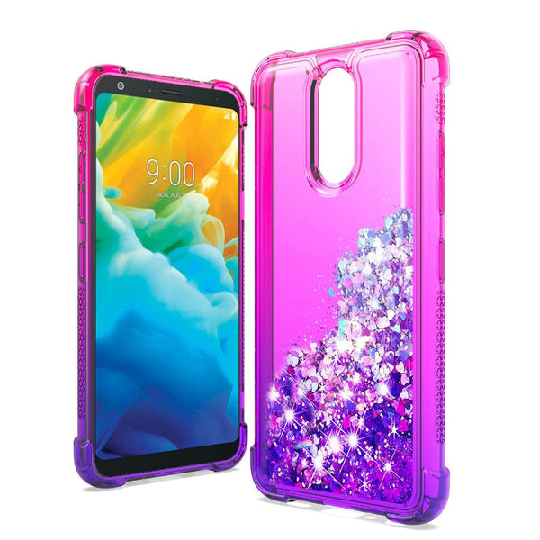 LG Stylo 5 - Premium Liquid Glitter Case - Hot Pink/Purple