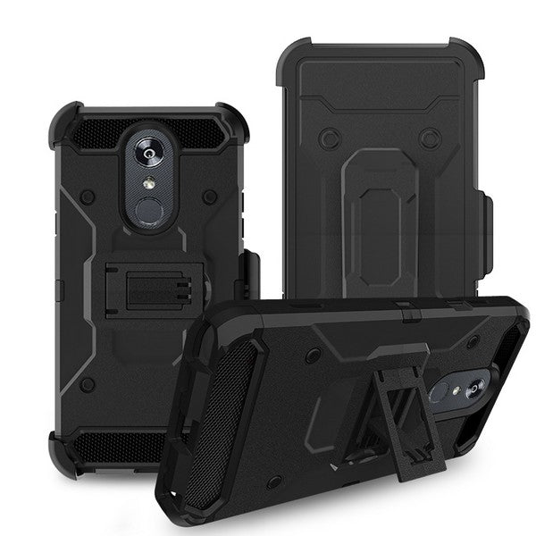 LG Stylo 5 - Premium Rugged Holster Clip Case - Black