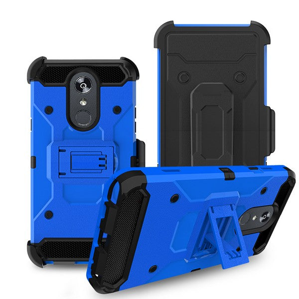 LG Stylo 5 - Premium Rugged Holster Clip Case - Blue