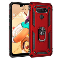 LG Stylo 6 - Premium Ring Magnetic Kickstand Case - Red