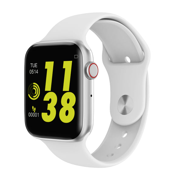 Smart Watch Bluetooth Fitness Tracker Heart Rate Monitor - White