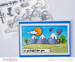 Grateful For You Landscape Clear Stamp Set