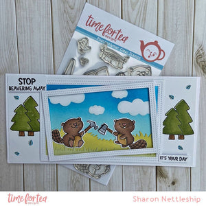 Beavering Away Clear Stamp Set