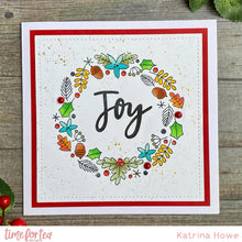 Load image into Gallery viewer, A5 Winter Wishes Wreath Stamp Set