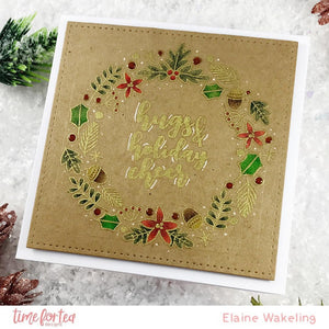 A5 Winter Wishes Wreath Stamp Set