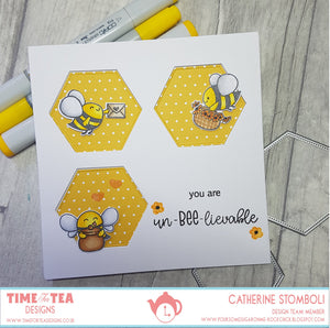 Bee Happy Hexagon Stitched Nesting Dies