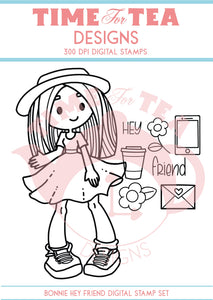 Bonnie Hey Friend Digital Stamp Set