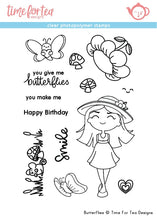 Load image into Gallery viewer, Butterflies Clear Stamp Set