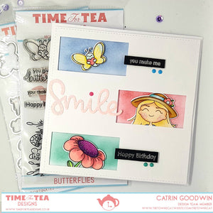 Butterflies Clear Stamp Set