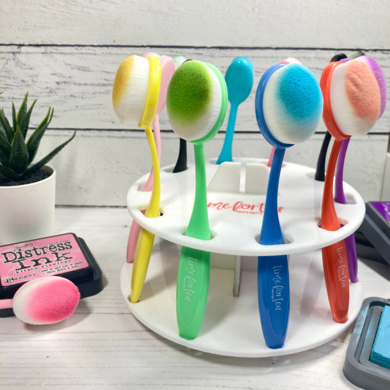 Spinning Blender Brush Storage Caddy & Beautiful Blender Brush Limited Edition Collection