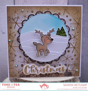 Christmas Deer Clear Stamp Set
