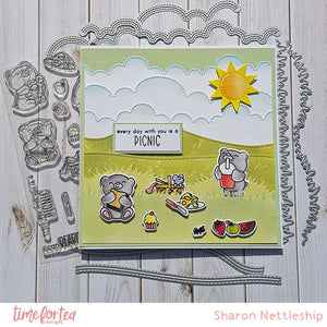 Bears Picnic Clear Stamp Set