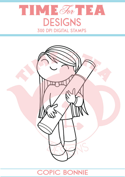 Copic & Painter Bonnie Digital Stamps