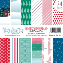 Load image into Gallery viewer, Winter Wonderland Paper Pad 6x6""