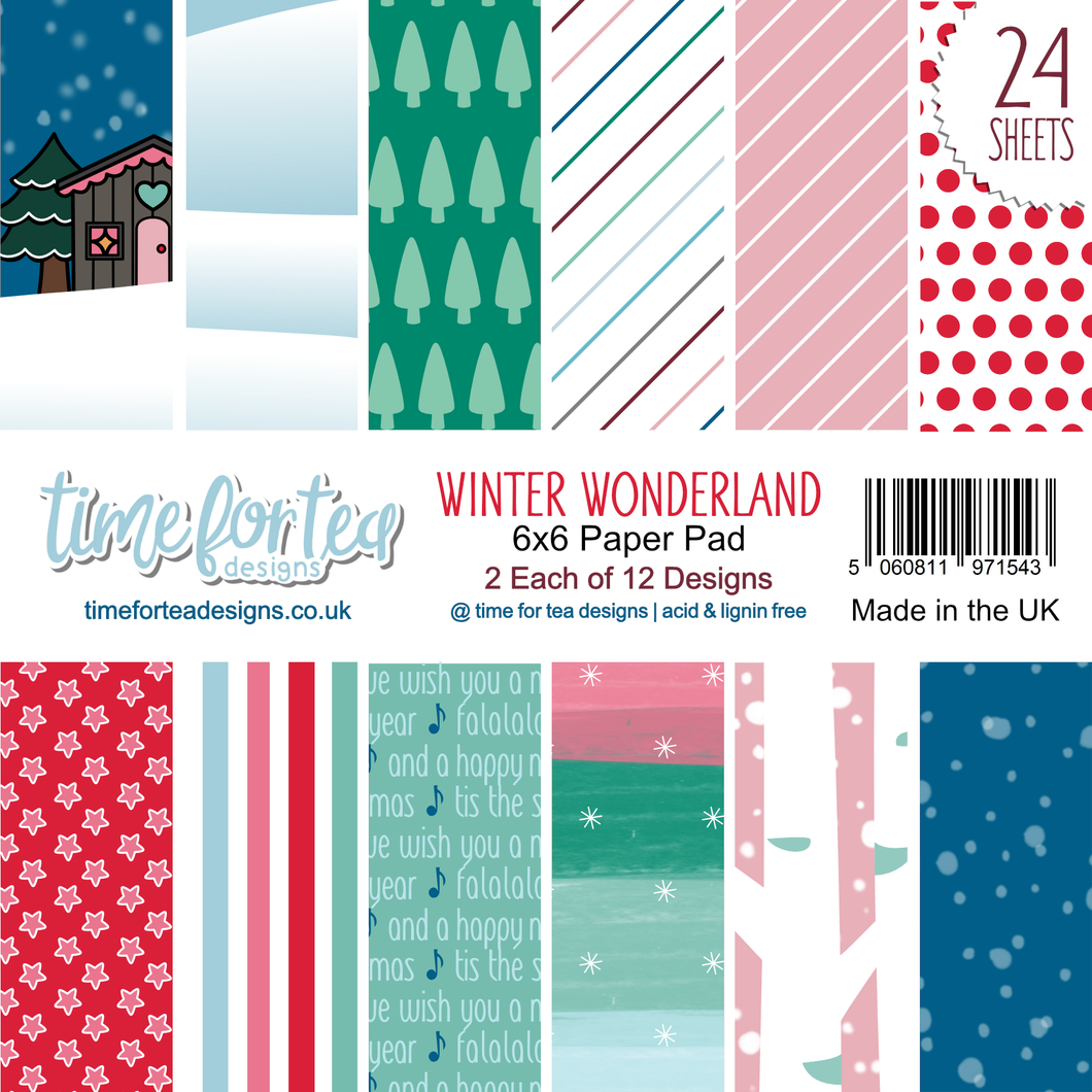 Winter Wonderland Paper Pad 6x6