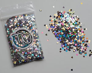 Holographic Hearts Embellishment Mix