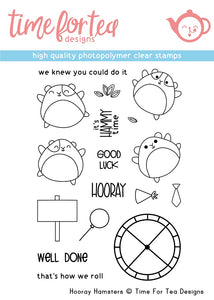 Hooray Hamster Clear Stamp Set