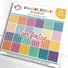 Load image into Gallery viewer, Rainbow Brights Essentials Paper Pad 6x6""