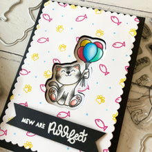 Load image into Gallery viewer, Mew Are Pawsome Clear Stamp Set