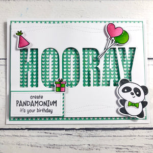 Hooray Sentiment & Cover Plate Die