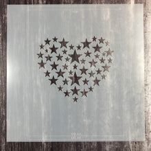 "Load image into Gallery viewer, Starry Heart 6 x6"" Stencil"
