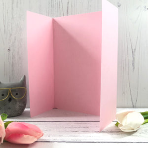 A5 Gatefold Card Blanks Mixed Pastel Colours - Pack of 5