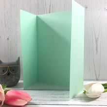 Load image into Gallery viewer, A5 Gatefold Card Blanks Mixed Pastel Colours - Pack of 5