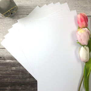 A4 Bright White Smooth Cardstock - Pack of 10
