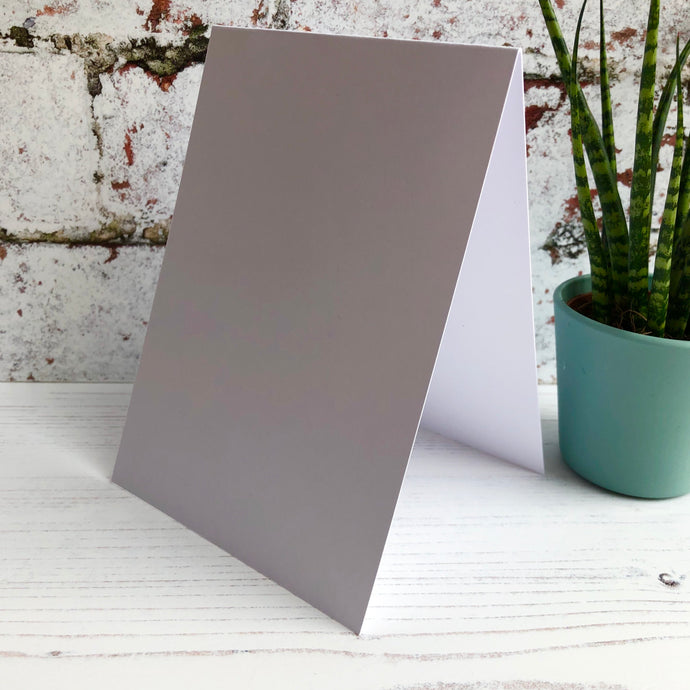 A6 Top Folding Landscape Card Blanks and Envelopes - Pack of 10