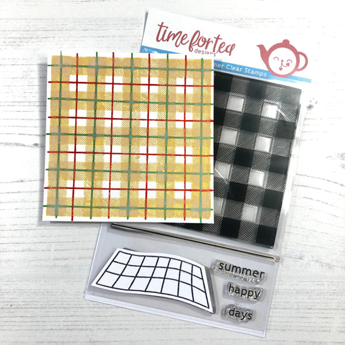 Plaid Background Clear Stamp Set