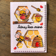 Load image into Gallery viewer, Bee Happy Hexagon Stitched Nesting Dies