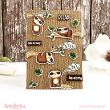 Load image into Gallery viewer, A5 Woodgrain Clear Stamp Set