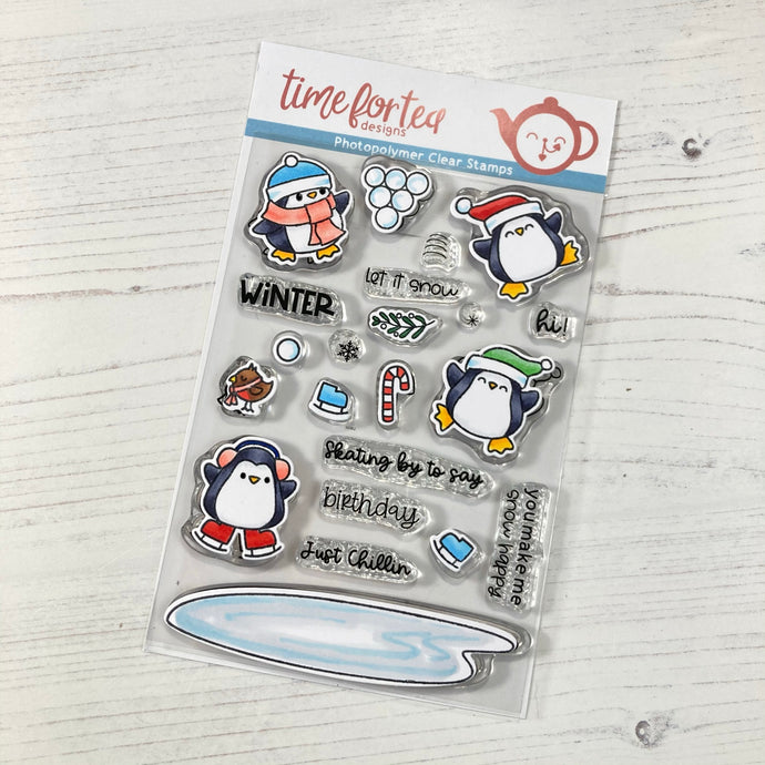 Skating By Penguins Clear Stamp Set