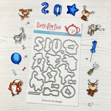 Load image into Gallery viewer, Happy New Year Critters Coordinating Die set