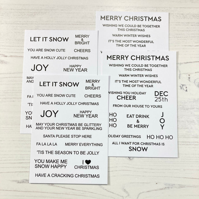 Sentiment Cards - Winter Wonderland | White