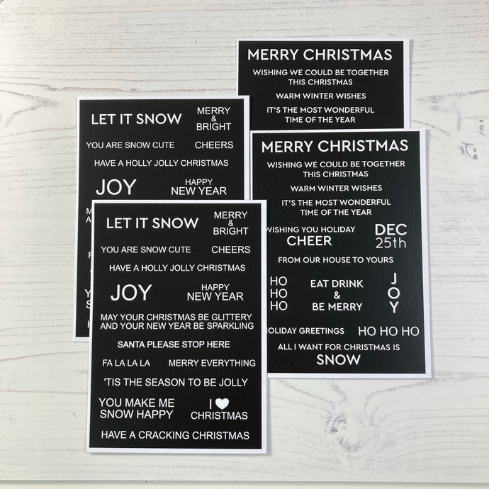 Sentiment Cards - Winter Wonderland | Black