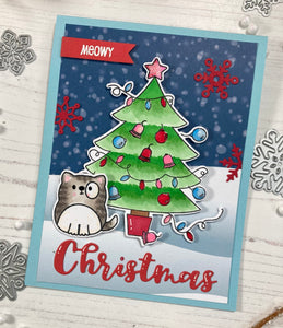 Catmas Crackers Clear Stamp Set
