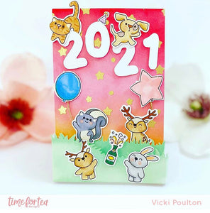 Happy New Year Critters Stamp and Die Collection