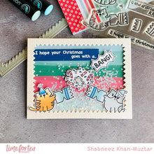 Load image into Gallery viewer, Catmas Crackers Clear Stamp Set