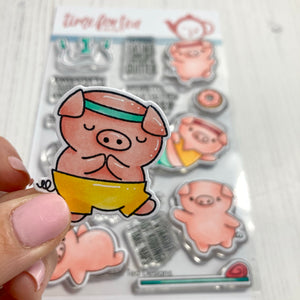 Workout Pigs Clear Stamp Set